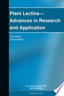 Plant Lectins—Advances in Research and Application: 2012 Edition