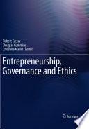 Entrepreneurship Governance And Ethics