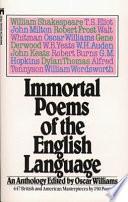 Immortal Poems Of The English Language Book PDF