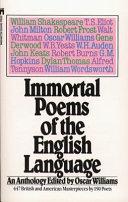 Immortal Poems of the English Language