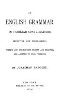 An English Grammar  in Familiar Conversations  Inductive and Progressive
