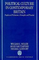 Political Culture in Contemporary Britain