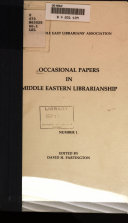 Occasional Papers in Middle Eastern Librarianship
