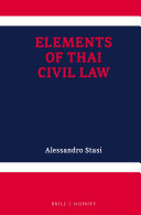 Elements of Thai Civil Law - Seite 10