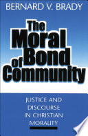 The Moral Bond of Community Book
