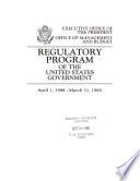 Regulatory Program Of The United States Government