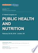 Proceedings of 3rd World Congress on Public Health   Nutrition 2018 Book