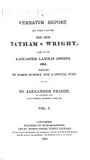 A Verbatim Report of the Cause Doe Dem  Tatham V  Wright