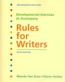 Developmental Exercises to Accompany Rules for Writers Book