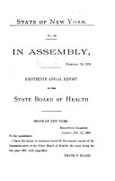 Annual Report of the State Board of Health of New York