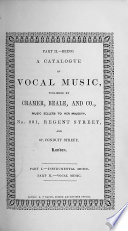 Catalogue of music, instrumental and vocal, etc. (1852.).