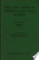 The Year S Work In Modern Language Studies