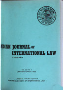 The Indian Journal of International Law