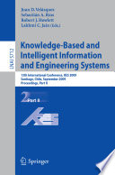 Knowledge Based And Intelligent Information And Engineering Systems Book PDF