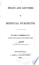 Essays And Lectures On Medical Subjects