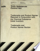 Toxic Substances Control Act: Trademarks and product names section