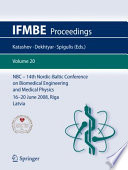 14th Nordic Baltic Conference On Biomedical Engineering And Medical Physics Book PDF