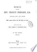 Memoir of the Rev  Francis Hodgson Book PDF