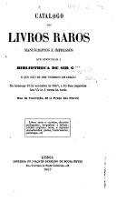 Catalogo dos Livros Raros, manuscriptos e impressos, que compunham a bibliotheca de Sir G*** [i.e. Sir - Gubian?], e que hão de ser vendidos em leilão no domingo 10 de novembro de 1867, etc. [Compiled by Francisco Casassa.] MS. notes of prices