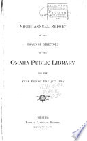 Annual Report Of The Board Of Directors Of The Omaha Public Library