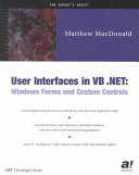 User Interfaces in VB  NET