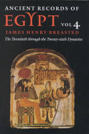 Ancient Records of Egypt  The first through the seventeenth dynasties