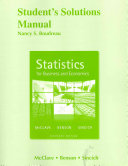Student S Solutions Manual For Statistics For Business And Economics