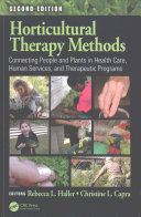 book cover - Horticultural therapy methods : connecting people and plants in health care, human services, and therapeutic programs