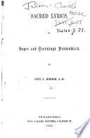 Sacred Lyrics, or, Hopes and yearnings, heavenward