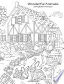 Wonderful Animals Coloring Book for Grown Ups 3