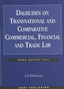Dalhuisen on Transnational and Comparative Commercial  Financial and Trade Law