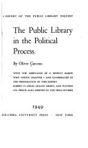 The Public Library in the Political Process Book