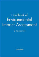 Handbook of Environmental Impact Assessment  2 Volume Set Book
