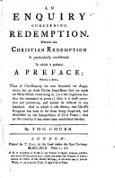 An Enquiry Concerning Redemption