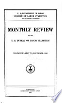 Monthly Review Of The United States Bureau Of Labor Statistics