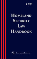 Homeland Security Law Handbook Pdf/ePub eBook