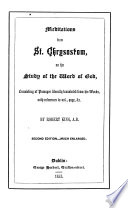 Meditations from st. Chrysostom on the study of the word of God, literally tr. by R. King
