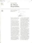 On Alliance Responsibility