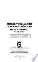 Análisis y evaluación de políticas públicas