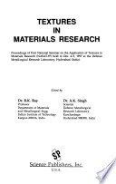 Textures in Materials Research