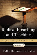 Biblical Preaching and Teaching