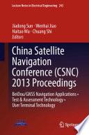 China Satellite Navigation Conference Csnc 2013 Proceedings Book PDF