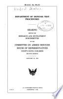 Department of Defense Test Procedures