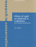 Pdf Effects of Light on Materials in Collections Telecharger