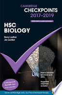 Cover of Cambridge Checkpoints HSC Biology 2017-19