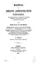 Manual de direito administrativo parochial ...