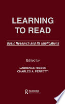 Learning To Read Book