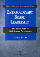 Extraordinary Board Leadership