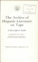 Archive of Hispanic Literature on Tape