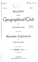 Bulletin of the Geographical Club of Philadelphia
